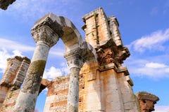 Philippi大教堂B废墟 免版税库存图片