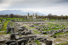 Philippi archaeological site Royalty Free Stock Photos
