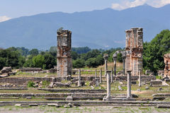 Philippi archaeological site, Greece Europe Stock Photos