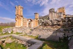 Philippi Basilica B baptistery Stock Image