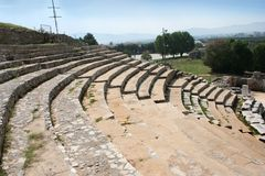 Philippi Theater. This is a historic theater in Philippi that would have been visited by the Apostle Paul, Silas, Lydia and early Christians from Acts 16. The stock photo