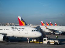 Philippine Airlines Airbus A320 Royalty Free Stock Photos