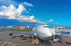 Philippine airlines aircraft at manila airport Stock Photo
