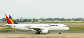 Philippine Airlines jet lands in Vietnam. Stock Image