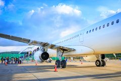Philippine Airlines PAL at Caticlan airport. On Nov 17, 2017 near Boracay Island in the Philippines Royalty Free Stock Photos