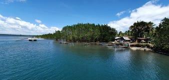Philippine Bay: Quiet Seawater of Maco, Davao de Oro Province in Mindanao