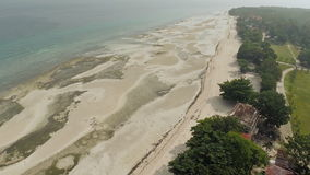 Philippine beach. Aerial view. Anda City. stock video
