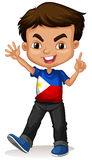 Philippine boy greeting and smiling Royalty Free Stock Photos