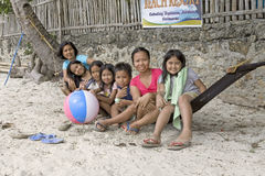 Philippines - Children on Hammock Stock Image