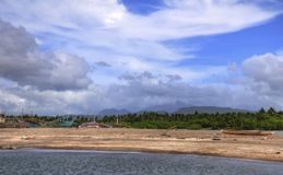 Philippine Coastal Landscape. A picture of a beach landscape in the Philippines Stock Images