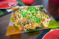 Philippine Dish Canton Noodles Stock Photos