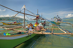 Philippine Fishing Boats Stock Image
