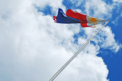 Philippine Flag. Waving Against the Wind royalty free stock images