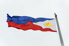Philippine Flag. Full shot of wind blown flag of the Philippines royalty free stock images