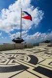 Philippine Flag on Mount Samat, Bataan. Philippine Flag Flying at Mount Samat National Shrine, Philippines stock images