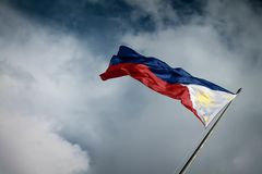 Philippine Flag. The Flag of the Republic of the Philippines stock photo