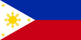 Philippine flag vector. Illustration Official symbol of the country Royalty Free Stock Photography