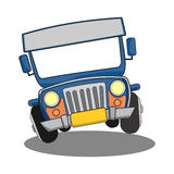Philippine Jeepney cartoon. Illustration of Philippine Jeepney. Manila jeep icon vector illustration