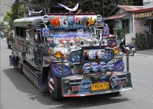 Philippine Jeepney. A Philippine Jeepney in Manilla Philippines Stock Image