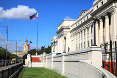 The Philippine National Museum with manila city hall. The Philippine National Museum located next to Rizal Park and near Intramuros in Manila. Its main building Stock Image