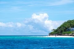 Philippine Ocean. Beach and ocean of islands in Philippines Royalty Free Stock Photo