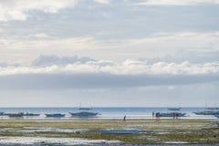 Philippine Ocean. Beach and ocean of islands in Philippines Stock Image