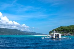 Philippine Ocean. Beach and ocean of islands in Philippines Stock Photos
