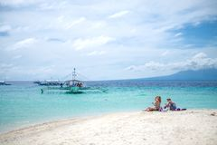 Philippine Ocean. Beach and ocean of islands in Philippines Stock Photography