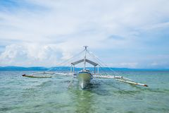 Philippine Ocean. Boat and ocean of islands in Philippines Royalty Free Stock Images