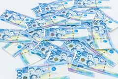 Philippine 1000 peso bill, Philippines money currency, Philippine money bills background royalty free stock photo