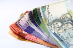 Philippine Peso Bills. A photo of different Peso bills Royalty Free Stock Images