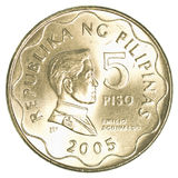 5 Philippine peso coin Royalty Free Stock Photo