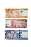 Philippine Peso Currency. Philippine Peso bank notes of 20 50 and 100 pesos Royalty Free Stock Photo