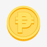Philippine peso currency symbol on gold coin Royalty Free Stock Image