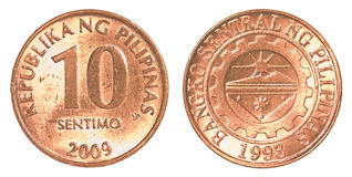 10 Philippine sentimo coin Royalty Free Stock Image
