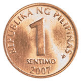 1 Philippine sentimo coin Royalty Free Stock Image