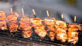 Philippine Style Pork Skewers Royalty Free Stock Photography
