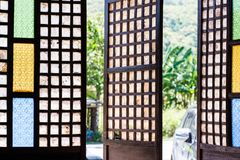 Philippine traditional window pane.  Royalty Free Stock Image
