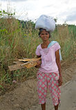 Philippine village woman Stock Photo
