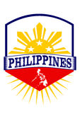 Philippinen-Emblem Stockfotos
