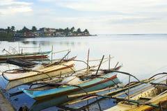 Philippinen fishermans Boote stockfotos