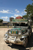Philippinen-jeepney öffentliche Transportmittel coron palawan Lizenzfreie Stockfotos