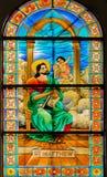 Philippinen-Katholisch-Buntglas lizenzfreie stockbilder