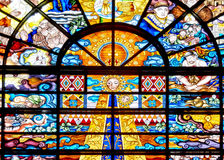Philippinen-Katholisch-Buntglas Stockfotografie