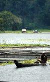 Philippinen, Mindanao, See Sebu Fischer Lizenzfreies Stockbild