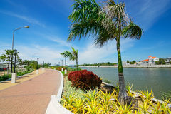 philippinen Panay-Insel Iloilo-Fluss-Esplanade lizenzfreie stockfotos