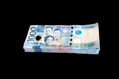 1000 Philippinen-Pesorechnung Stockbild