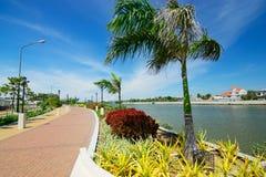 philippines Île de Panay Esplanade de rivière d'Iloilo photos libres de droits