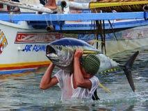 Philippines#3的黄鳍金枪鱼手工渔业 图库摄影