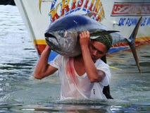 Philippines#4的黄鳍金枪鱼手工渔业 免版税库存照片